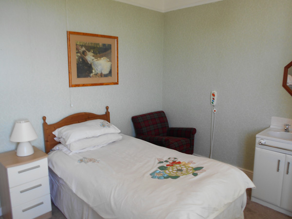 care home bedroom fitted with nursing call buttons
