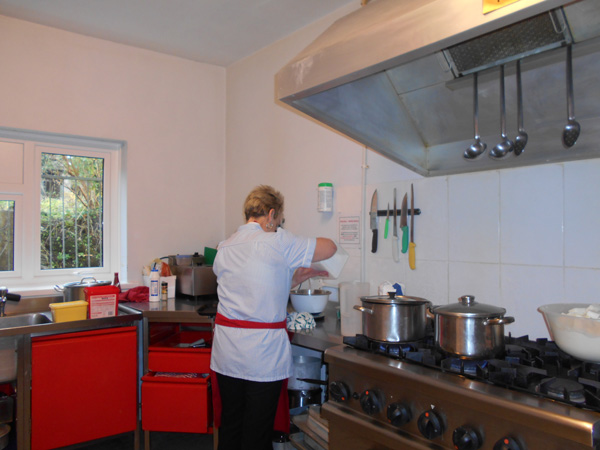 Kitchen at wentworth residential care home