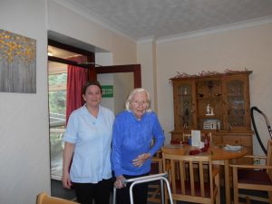 Carer and residentent at wentworth care home