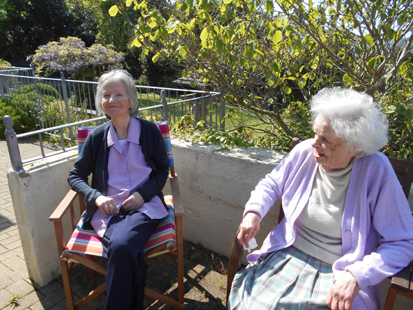 Wentworth care home balcony and gardens